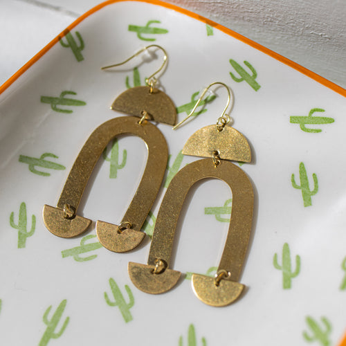 Canyon Ridge Gold Metal Earrings