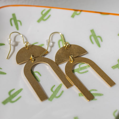 Santa Barbara Gold Metal Earrings