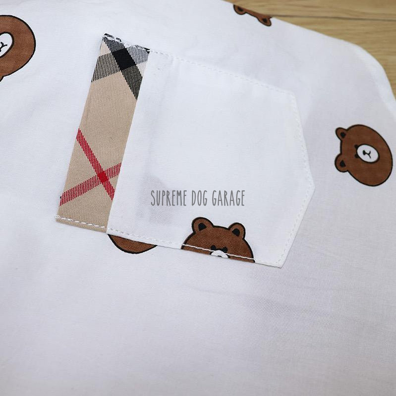 burberry dog shirt with pocket