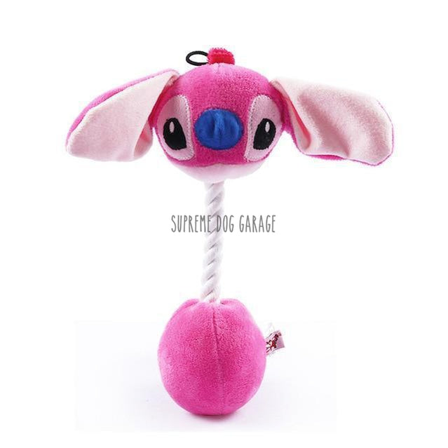 pink stitch dog toy