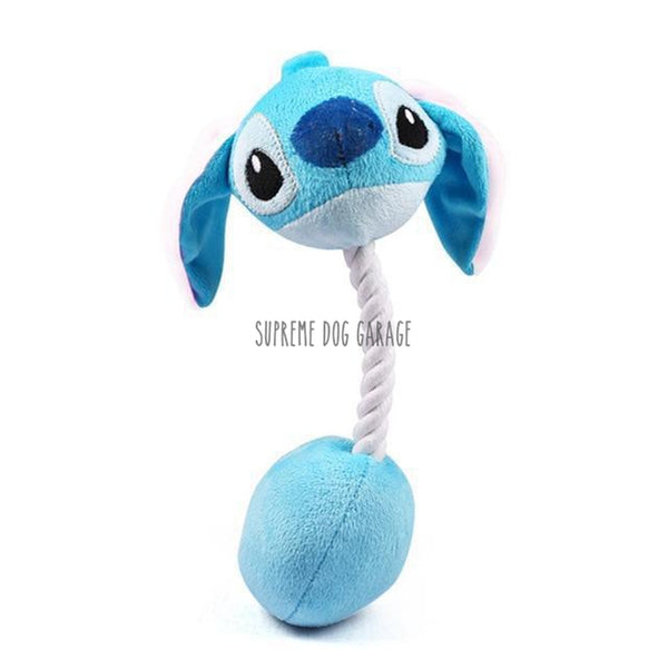 blue stitch dog toy