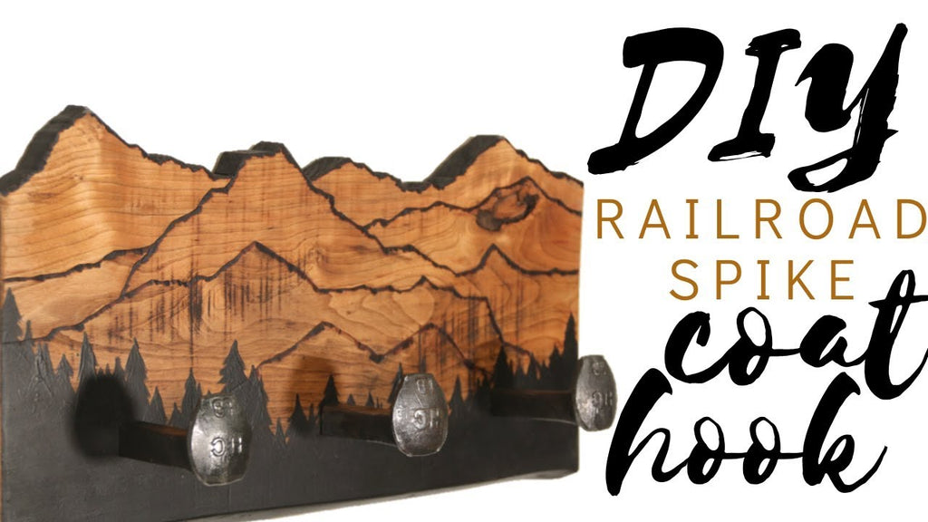I found a HUGE pile of railroad spikes so thought I'd put them to use! Here's how to turn a rusty old railroad spike into beautiful home decor