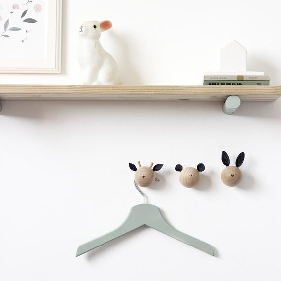 Wall Hooks, Wall Hooks For Kids, Animal Hooks, Woodland Nursery Decor, Baby Gift, Baby Shower, Newborn Gift, wall Hook, Coat Hooks, Q by loopdesignstudio
