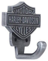 (12) Ace HDL-10100 Harley Davidson Pewter Finish Bar & Shield Design Coat Hooks