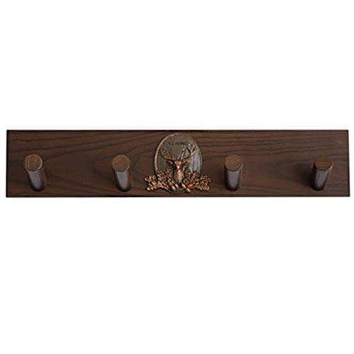 4 Hook Coat Rack Wall Mounted,Simple Solid Wood Walunt Coat Hangers Entryway Furniture Storage Hooks