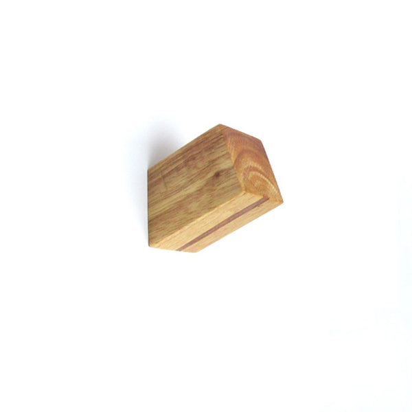 A.B Crew Minimalist Design Decorative Wall Mounted Wooden Coat Hook Hat Hanger(Natural Square Column)