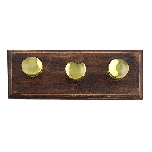 Indianshelf Handmade 1 Artistic Vintage Lime Wooden Flat Rail Hooks Holders/Wall Hooks for Frames
