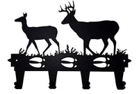 Buck and Doe Decorative Wall Mounted Metal Coat and Hat Rack.