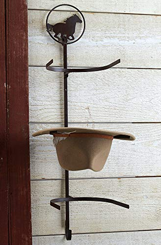 Horse Over-The-Door Cowboy Hat Rack - Rustic Decor