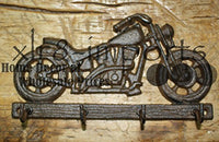 Cast Iron MOTORCYCLE Towel, Coat Hooks, Hat Hook, Key Rack BIKE RIDER HARLEY , Coat Hook , Hat Hook Wall Mounted , Wall Hook ,Coat Hanger ,Hooks for Bath , Kitchen, Garage by OutletBestSelling
