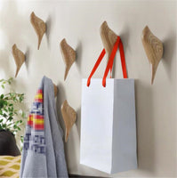2 Pcs 3D Creative Bird Wall Hooks Decorative Wall Rack Door Single Hooks Coat Hooks Wall Hanger for Bathroom,Bedroom Light Blue