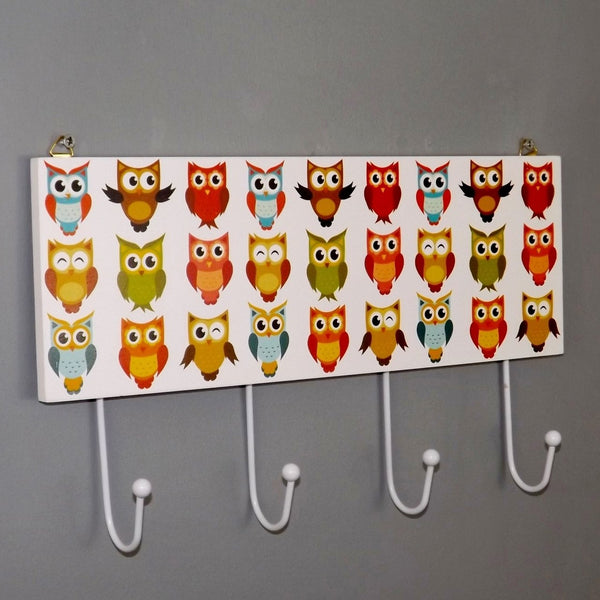 Line Dancing Owl Coat Rack with four Hooks
