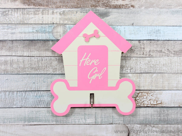Here girl pink dog lead hook