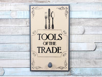 Tools of the trade grey/cream apron coat hook