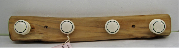 Handcrafted beautiful holly wood coat hooks