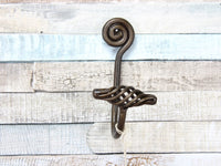 Single Spiral Metal Bronze Coat Hook