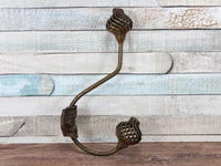 Single Spiral Metal Double Ball Bronze Coat Hook
