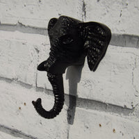 Cast Iron Elephant Head Single Hook