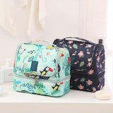 Portable Hanging Flamingo Nylon Waterproof Fashion Cosmetic Bag Make Up Bag Toilet Wash Bag