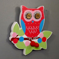 Brightly Painted Owl Coat Hook