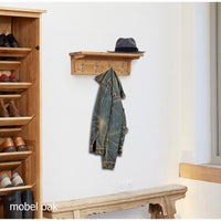 Baumhaus Mobel Oak Wall Mounted Coat Rack