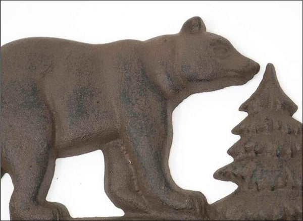 Cast Iron Bear Wall Key Rack Holder 4 Hooks Coat Hook Home Decor