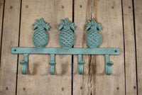 Teal Pineapple Quadruple Coat Hook