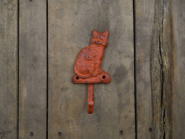 Orange Cat Coat Hook
