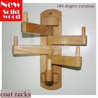 Rotating Wall Mounted Wooden Coat Hooks