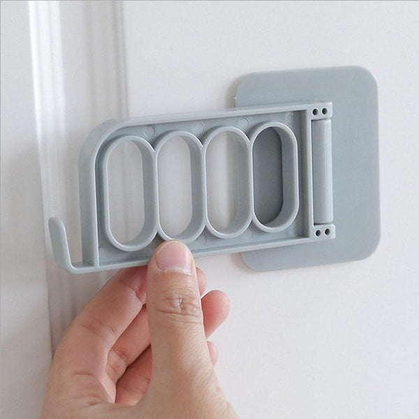 1 Pc Fordable Key Decorative Multi-function Door Hooks strong adhesive hanger storage rack coat hook Creative Solid