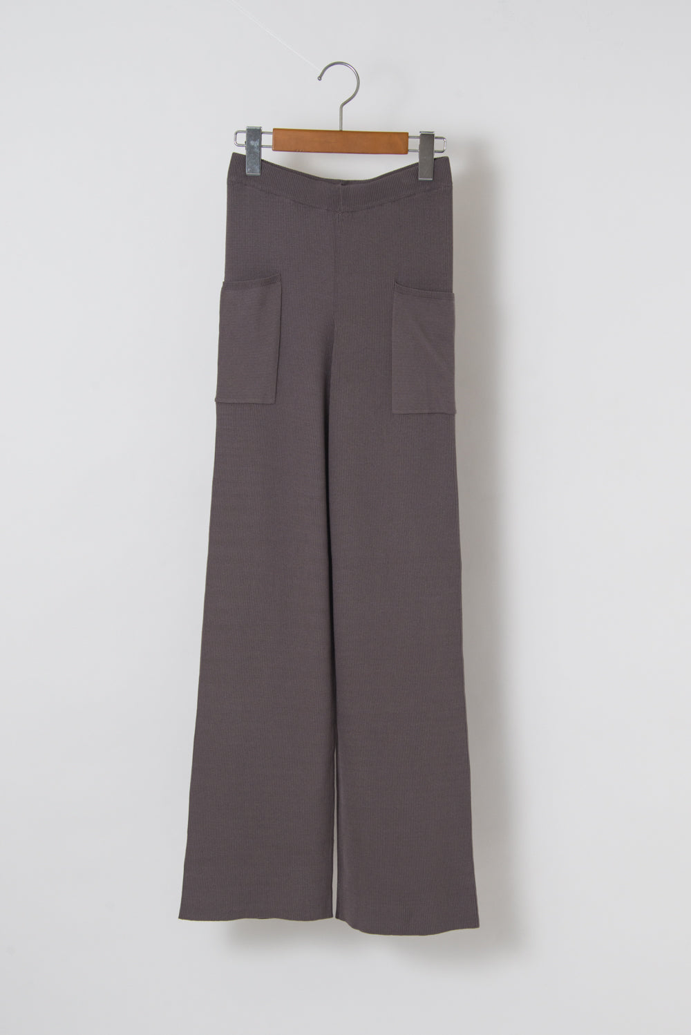 KNITTED RIB TROUSER