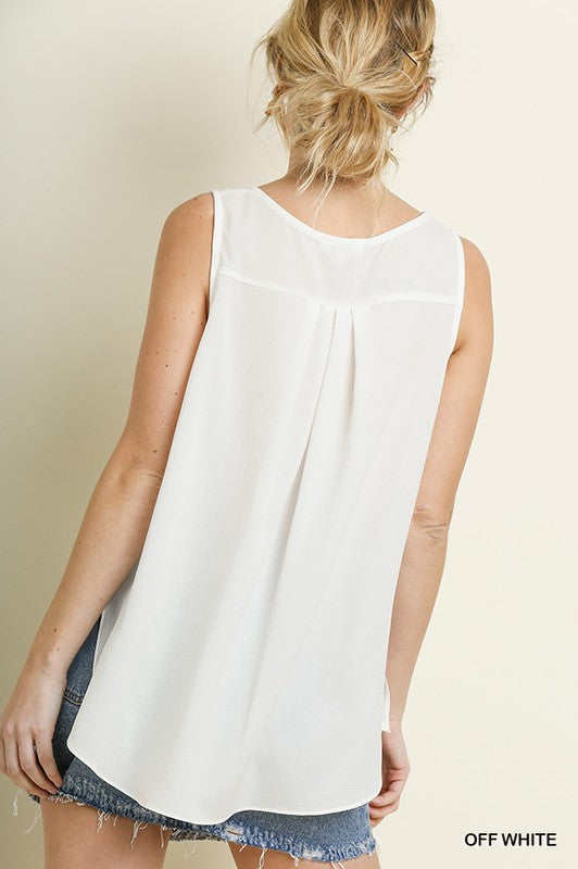 Jane Scoop Tank-West & Emerald