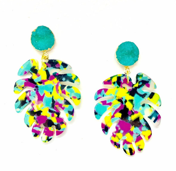 Tropicana Drop Earrings-West & Emerald