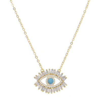 Evil Eye Necklace-West & Emerald