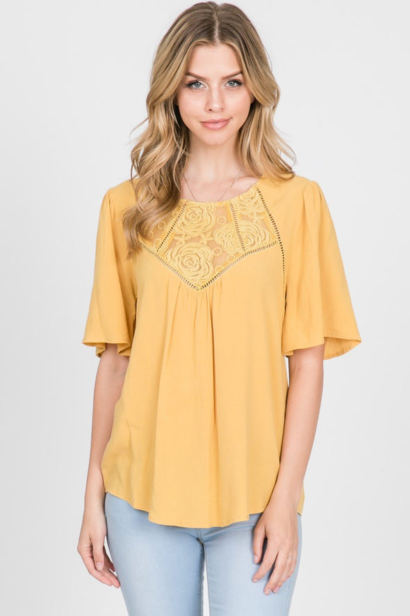 Roses Are Yellow Blouse