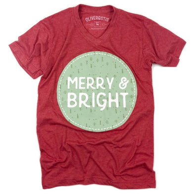 Merry & Bright Christmas Tee