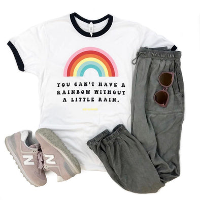 Rainbow Without A Little Rain T-Shirt-West & Emerald
