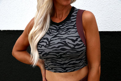 Jungle Cat Crop Sports Bra