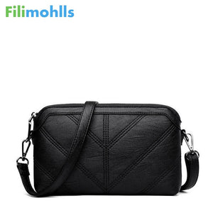 fb49fa21a4d7 High Quality Shoulder Bags Fashion Black Women Messenger Bags Small Flap  Crossbody Hand Clutch Bags Zipper Bag PU Leather S1209