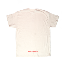 "Load image into Gallery viewer, NARCOWAVE ""N"" LOGO T-SHIRT CREAM + DIGITAL ALBUM"