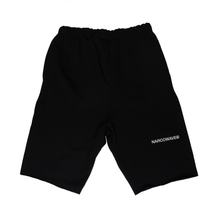 "Load image into Gallery viewer, NARCOWAVE X CHAMPION - ""14-23"" SWEATSHORTS BLACK + DIGITAL ALBUM"