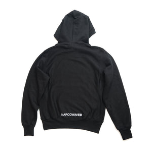 NARCOWAVE X CHAMPION - ARCO HOODED SWEATSHIRT BLACK
