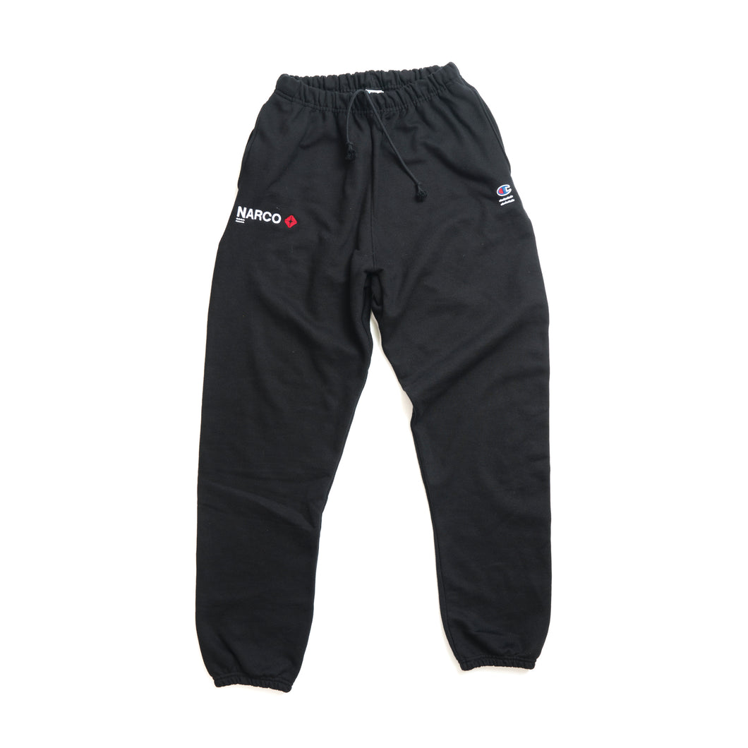 NARCOWAVE X CHAMPION - ARCO SWEATPANTS BLACK