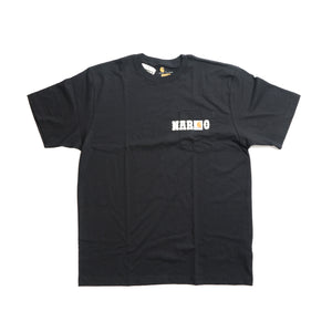 NARCOWAVE X CARHARTT - POCKET T-SHIRT BLACK