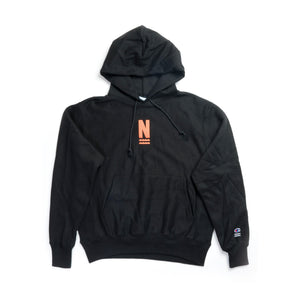 "NARCOWAVE X CHAMPION - ""N"" LOGO HOODED SWEATSHIRT BLACK"