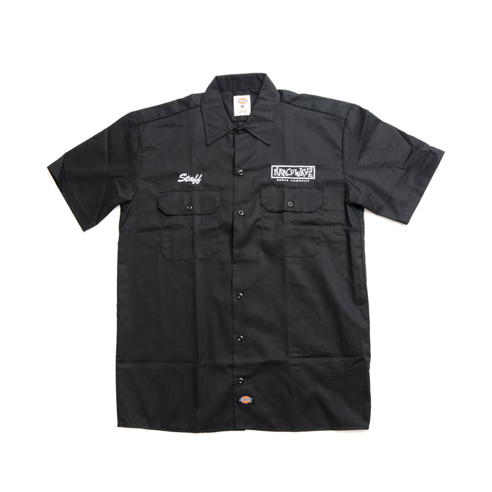 NARCOWAVE x DICKIES - STAFF SHORT SLEEVE WORK SHIRT BLACK
