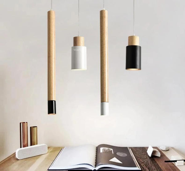 Ambrose - Modern Nordic Long Hanging Wood Light