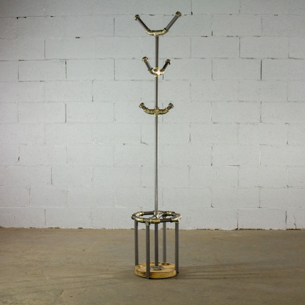 Modern Industrial Three Tier Coat Rack