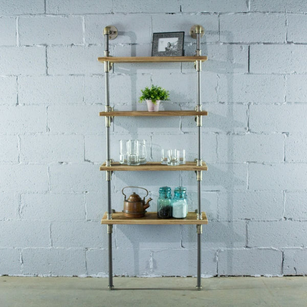Four Shelf Wall Mounted Bookcase
