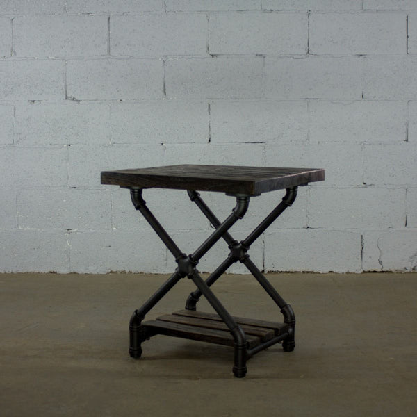 Industrial Open Bedside Table